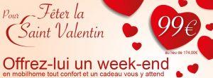 Un Week-end en amoureux pour 99€